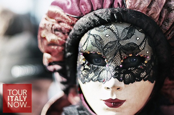 carnevale venice italy - mask close upof costume