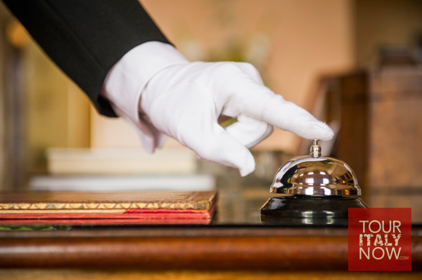 italy hotels front desk