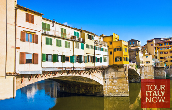 ponte vecchio bridge florence italy - view during day
