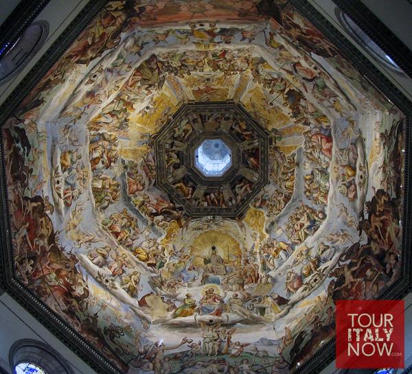 santa maria del fiore duomo florence italy - ceiling dome fresco