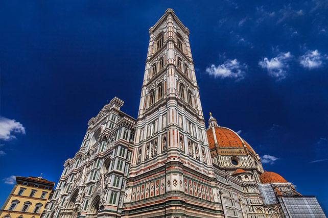 Santa Maria del Fiore Duomo Florence Italy - campanile tower