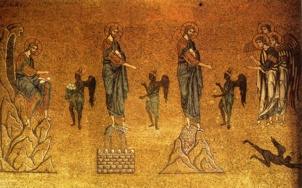 st_mark_basilica_mosaic_temptation_of_christ