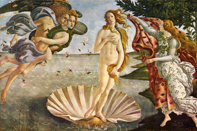 uffizi gallery museum florence italy - venus painting by boticelli