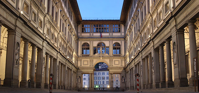 Uffizi Gallery Museum Florence Italy - view of exterior
