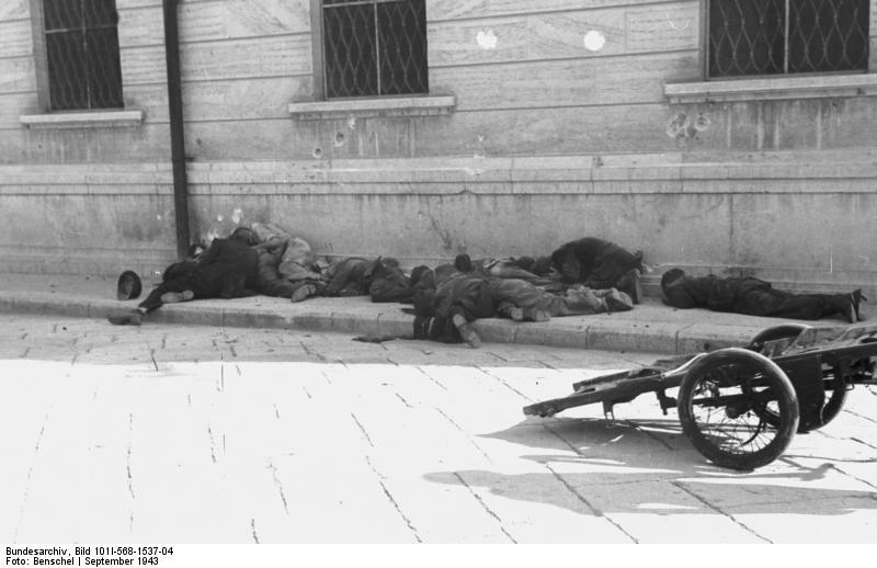Italien, Rom, erschossene Italiener