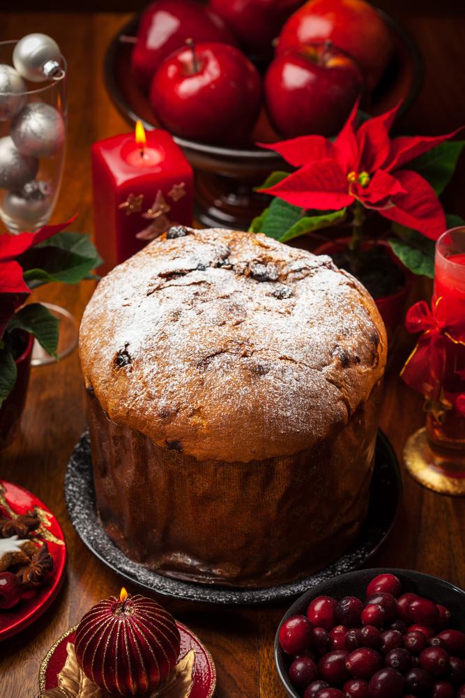 Panettone cake for Christmas - traditional Italian Christmas cake