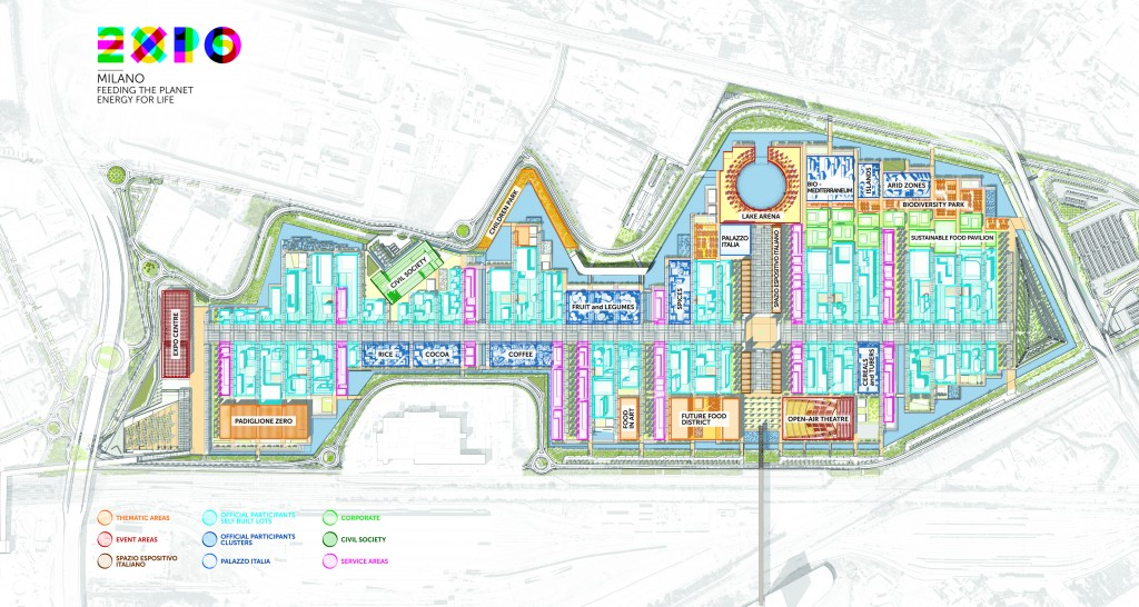 MIlan Expo 2015 Expo Grounds Map and Floor Plan. Click to enlarge.