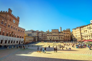 Piazza Campo Square, Siena, Italy