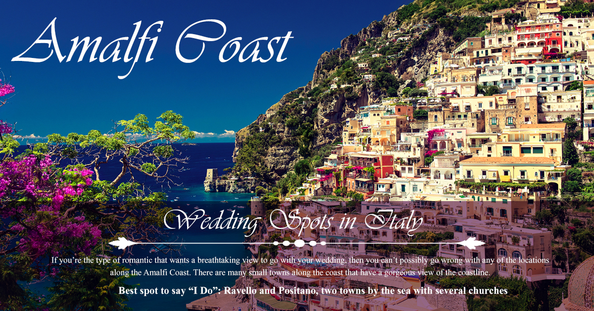 Amalfi Coast - Top 5 Wedding Spots in Italy