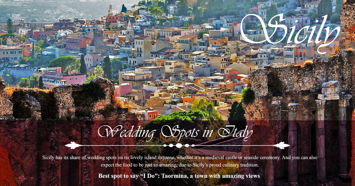 Sicily - Top 5 Wedding Spots in Italy