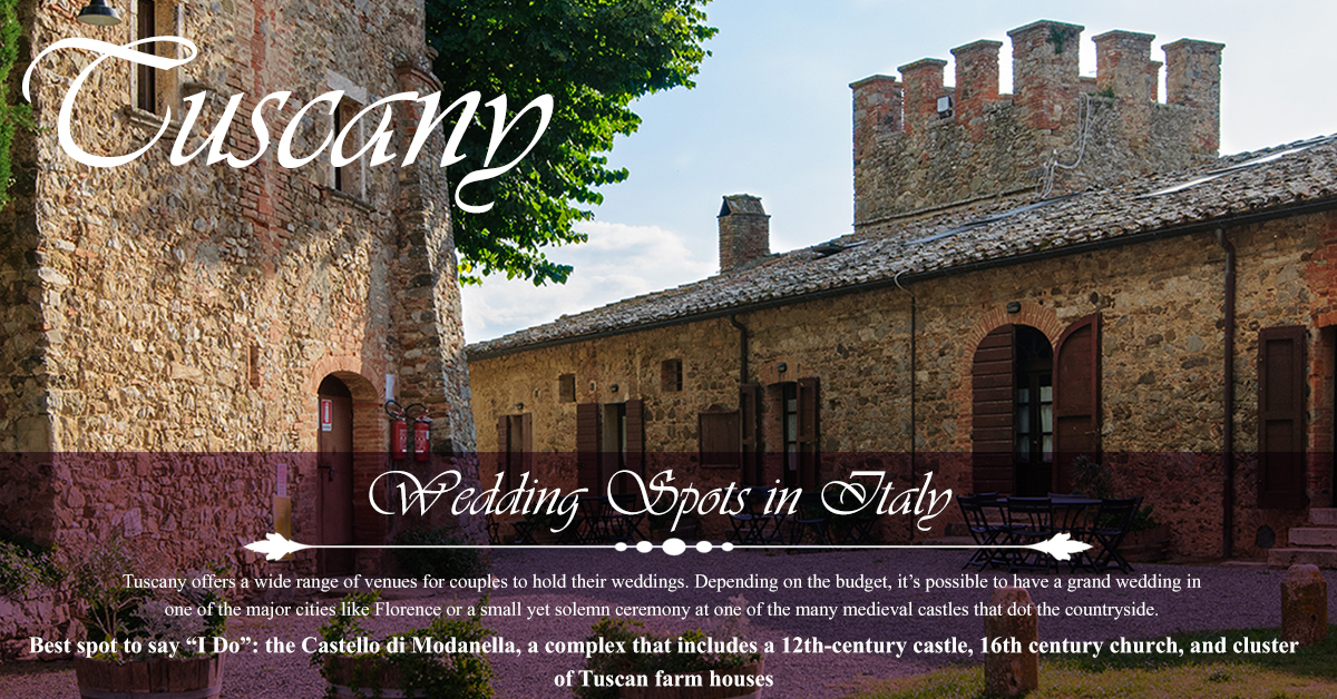 Tuscany - Top 5 Wedding Spots in Italy