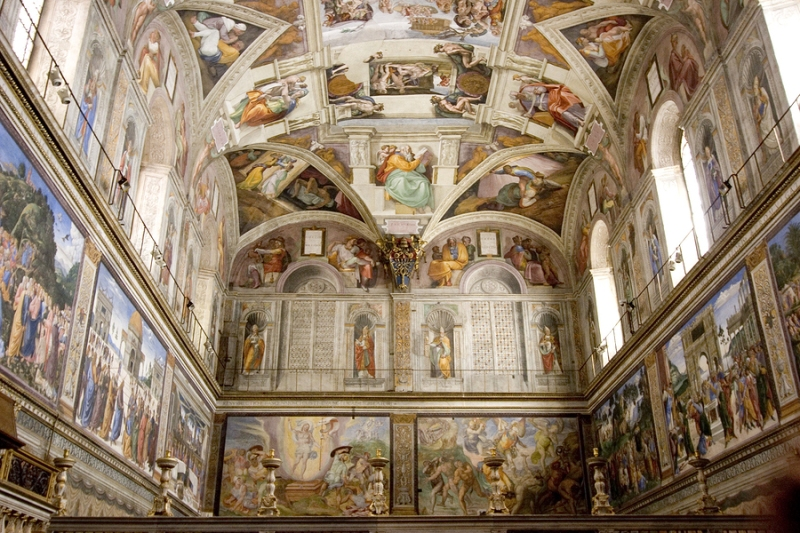 The Sistine Chapel in the Vatican City