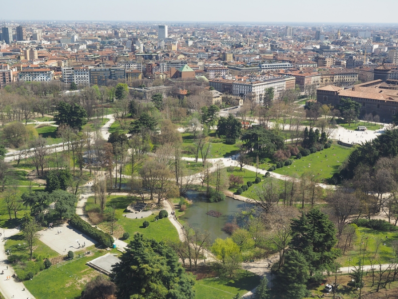 The Parco Sempione in Milan, Italy