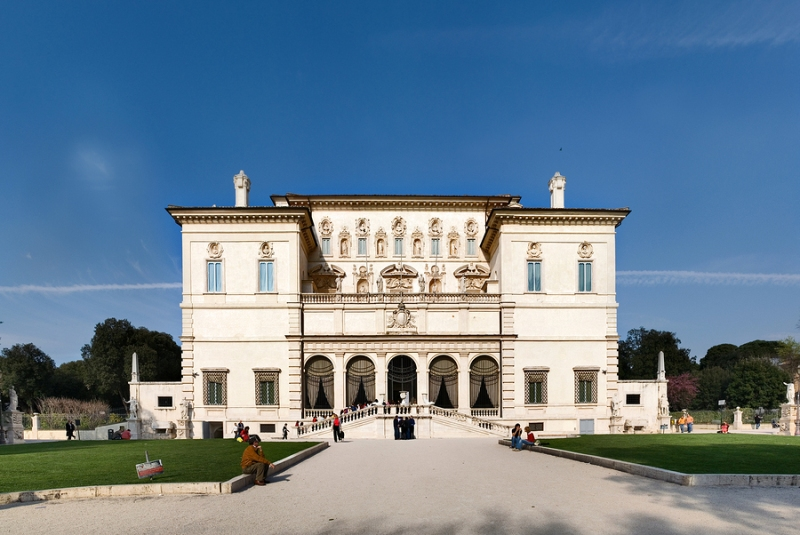 The Galleria Borghese in Rome, Italy