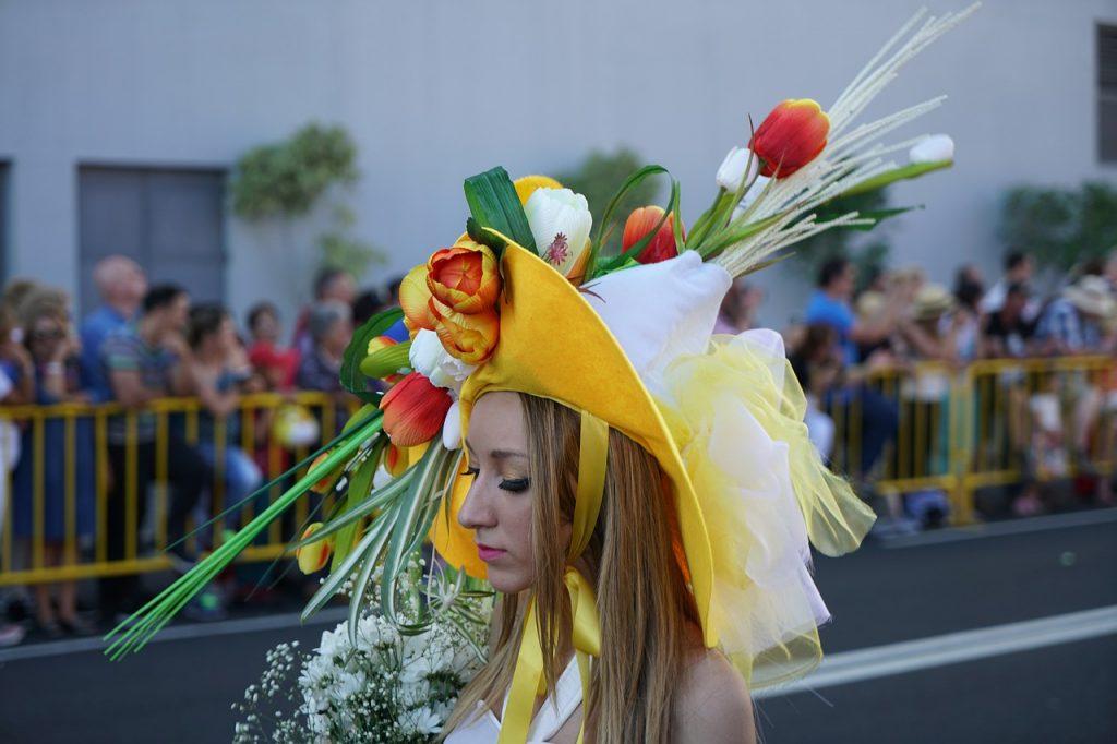 Italy Flower Festival in Spring