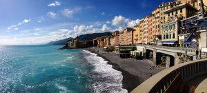 Beach in Camogli, Liguria
