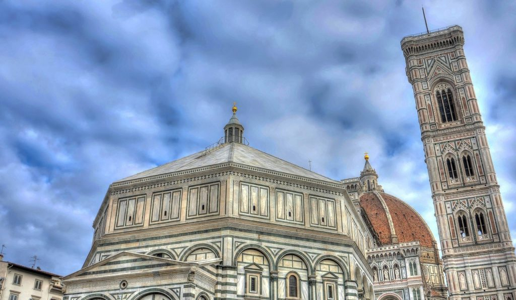 Duomo in Florence with the Skies in the Background Showing Mild Weather