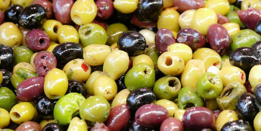 Olives at a Market in Florence Italy