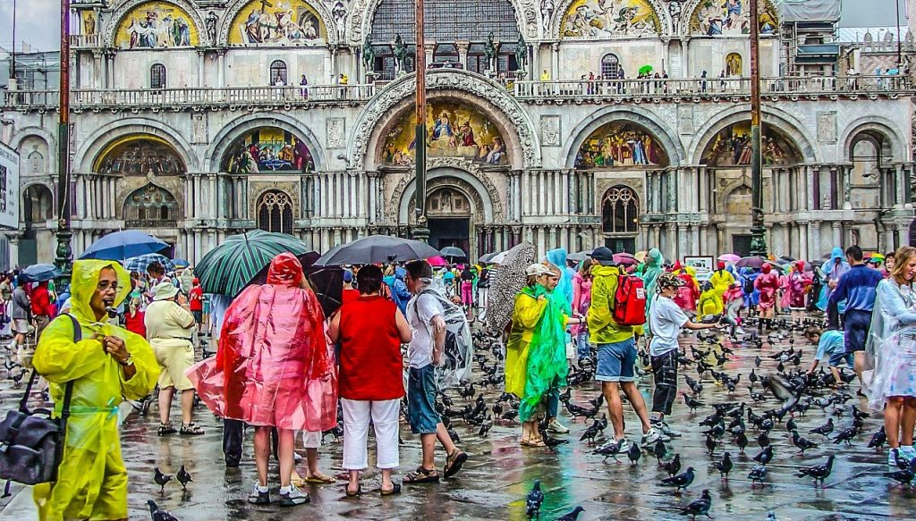 Rainy Day in Venice Italy